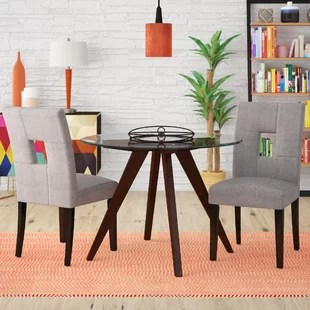 oak kitchen chairs driftwood table honey wayfair oakely side chair set of 2