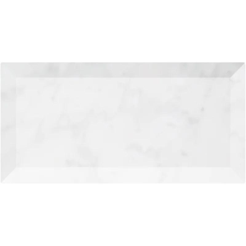 3 x 6 beveled marble subway tile