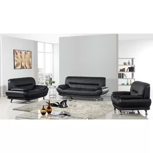 modern black living room set with sectional sets allmodern quickview