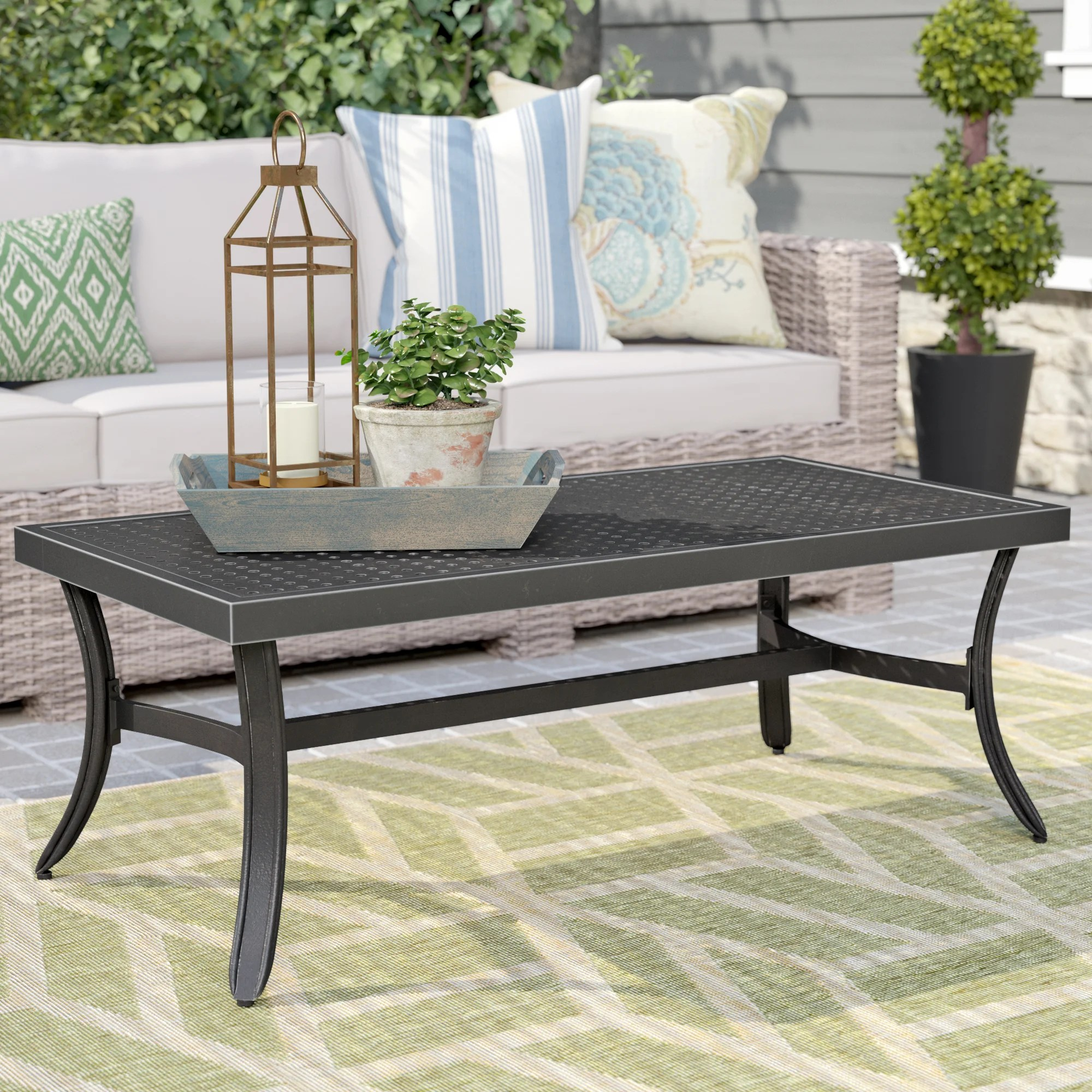 metal garden coffee tables you ll love