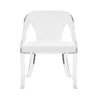 acrylic arm chair fishing moon clear armchair wayfair round