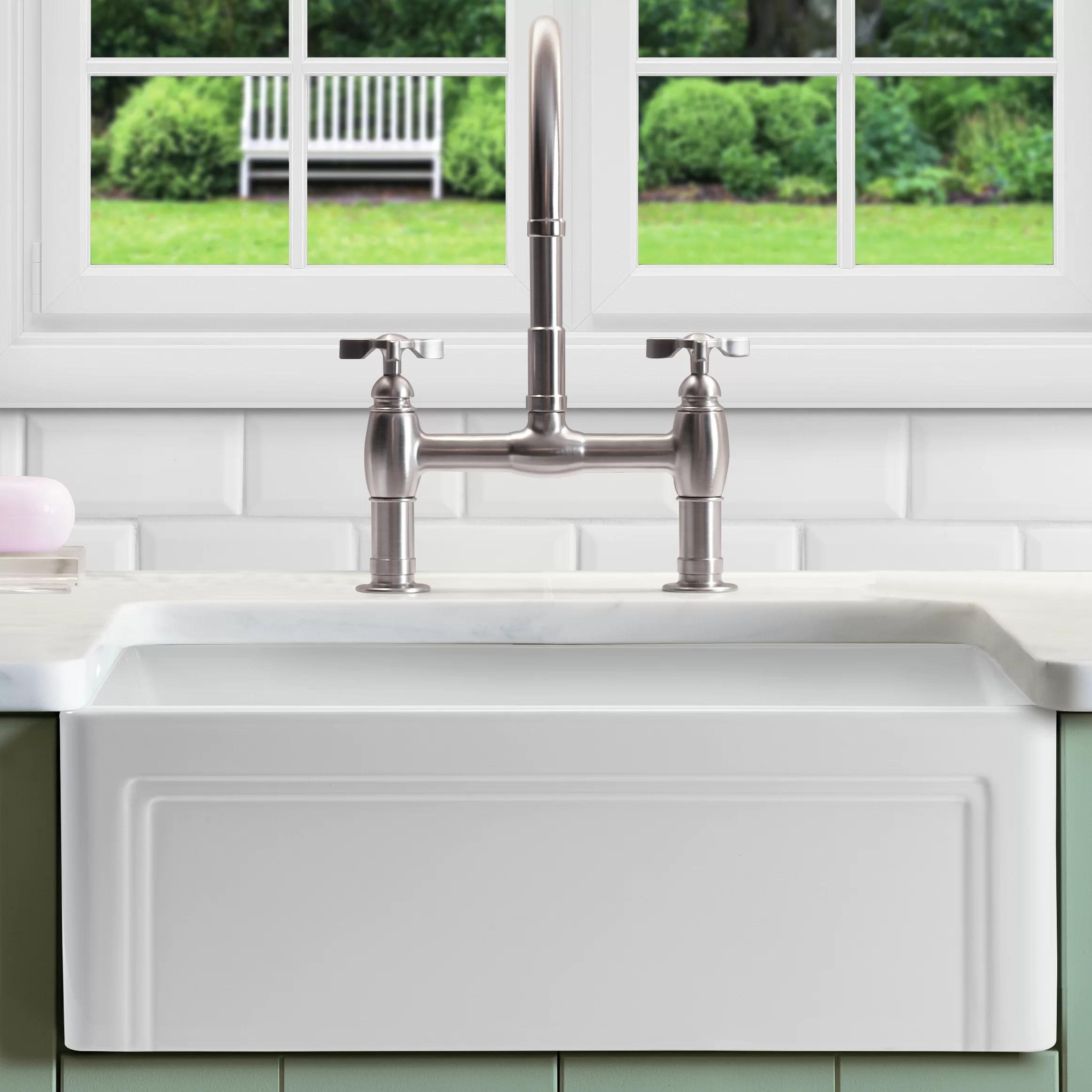 retta 29 l x 18 w farmhouse kitchen sink with grid and strainer