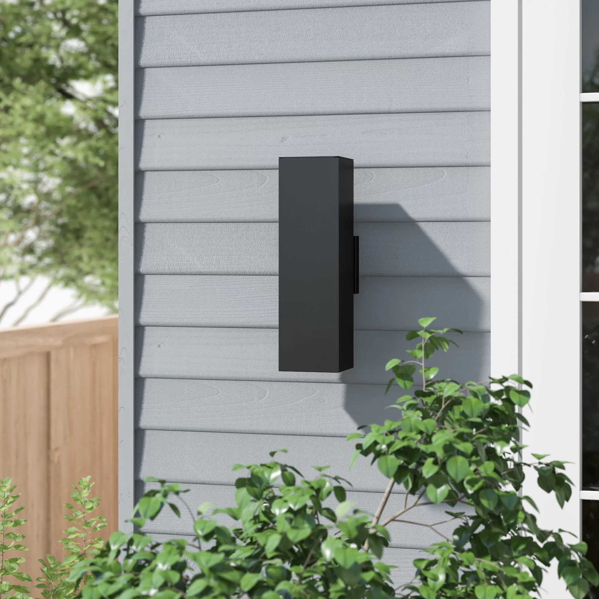 abbott black seeded glass outdoor wall lantern