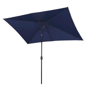 rectangular patio umbrella 10 x 7ft outdoor umbrella patio market table umbrella with push button tilt and crank waterproof sunshade canopy 6 ribs for
