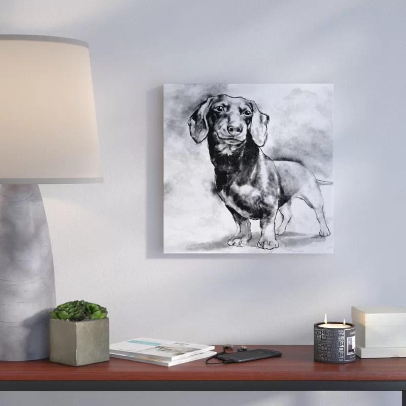 Dachshund Print on Canvas Size: 16 H x 16 W x 1.5 D