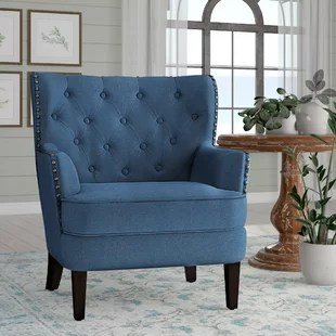 blue green chair cow print office with arms accent chairs you ll love wayfair