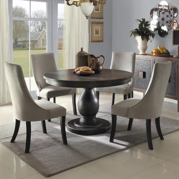 black dining table and chairs massage office chair great barrington set wayfair