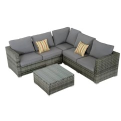 Palermo Rattan Effect Corner Sofa Set Cover Mainstays Sleeper With Memory Foam Garden Sets You Ll Love Wayfair Co Uk