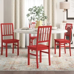 red kitchen chairs diy outdoor kitchens dining you ll love wayfair quickview blue