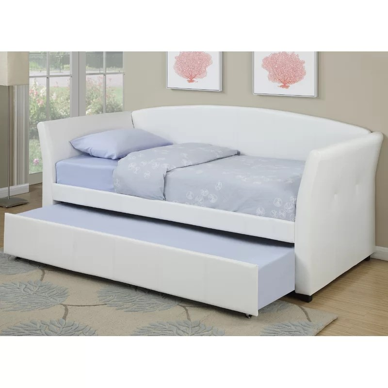 Huntington Twin Daybed with Trundle Color: White