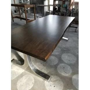 maple kitchen table industrial cart solid wayfair ca wilburton wood dining