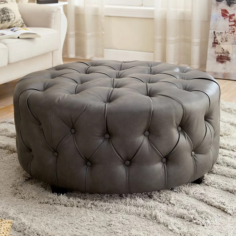Cocktail Ottoman Upholstery: Gray