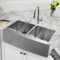Dispenser Kitchen Commercial Faucets Cahaba 33 L X 21 W Double Basin Apron Sink With Faucet And Soap