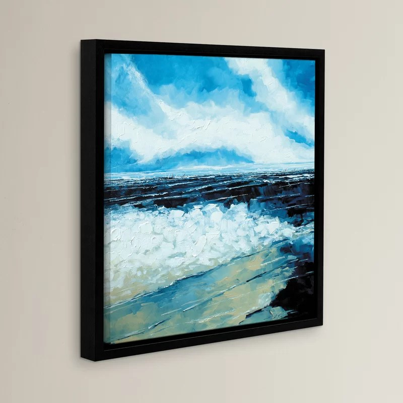 On The Beach Framed Painting Print Size: 14 H x 14 W x 2 D