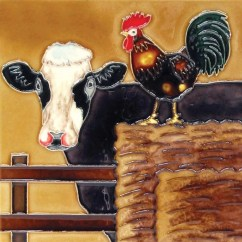 Rooster Kitchen Decor Can I Just Replace Cabinet Doors Chicken Wayfair A Cow And Tile Wall