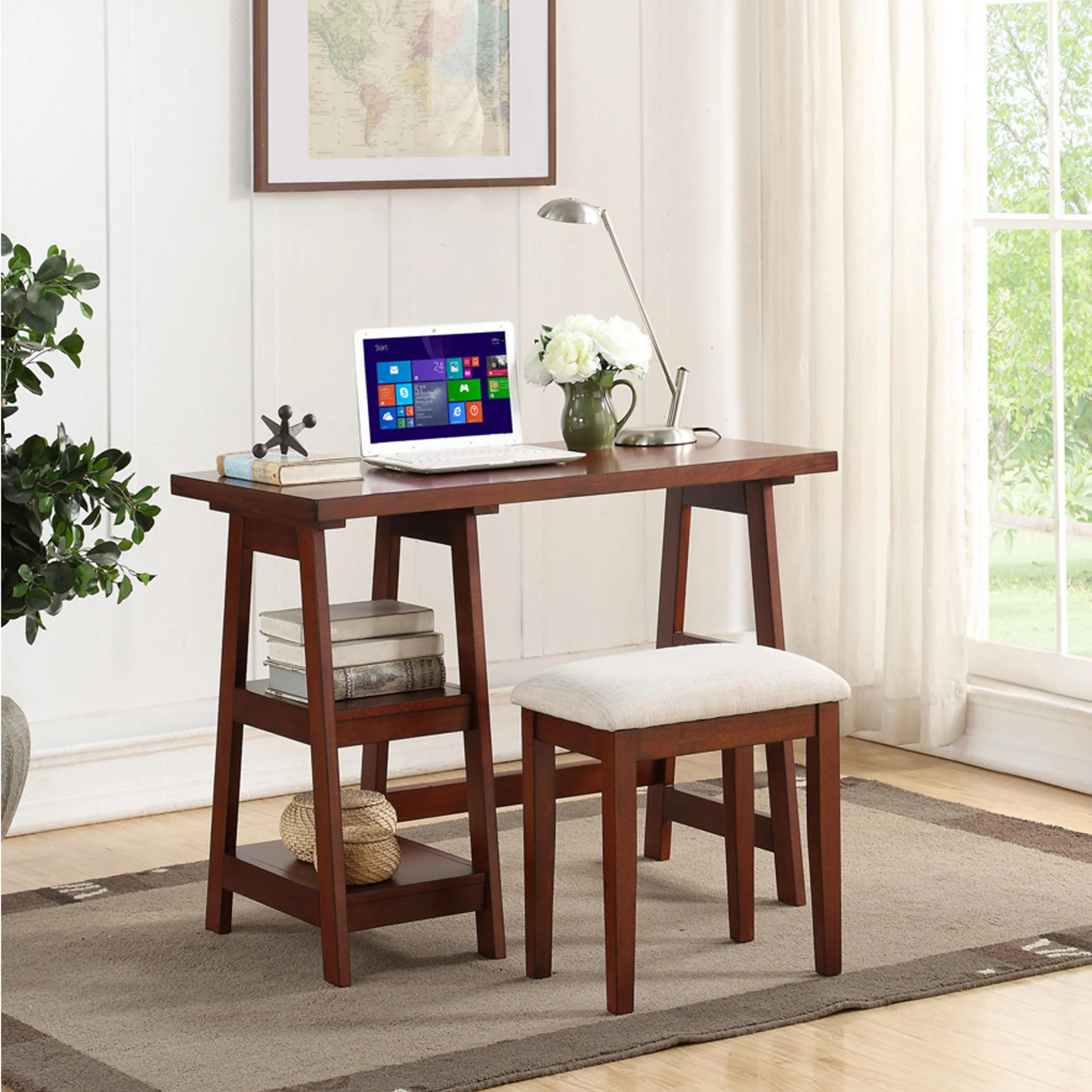 Desk And Chair Set Norviel Wooden Writing Desk And Chair Set