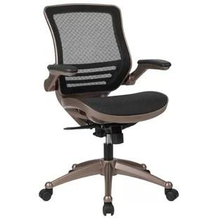 chaise de bureau pivotante transparente a dossier moyen mignone
