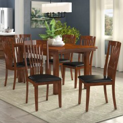 6 Chair Dining Set Wooden Captains Chairs Three Posts Remsen Extendable With Reviews Wayfair Co Uk