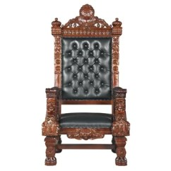 Black Gothic Throne Chair Covers For A Wedding Chairs Wayfair Armchair