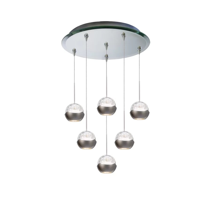 genesis 6 light cluster globe pendant