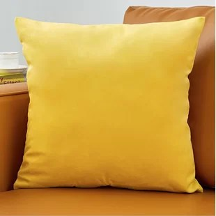 small yellow and gold throw pillows you
