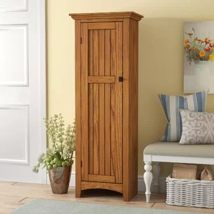 tall kitchen pantry laminate table narrow cabinet wayfair nickolas 61