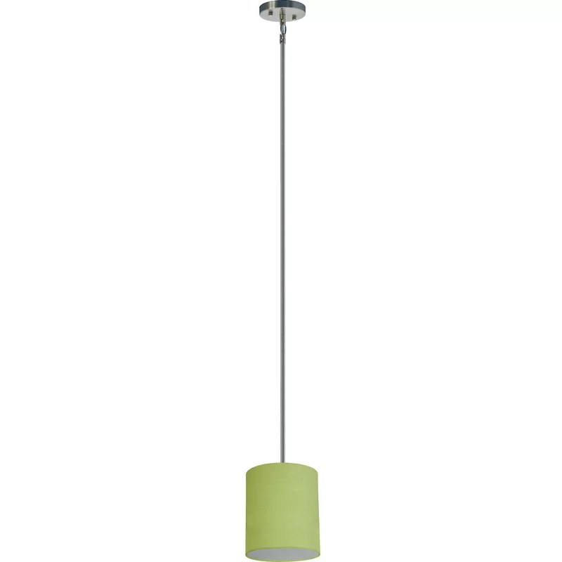 Olivo 1-Light Pendant Shade Color: Rich Lime