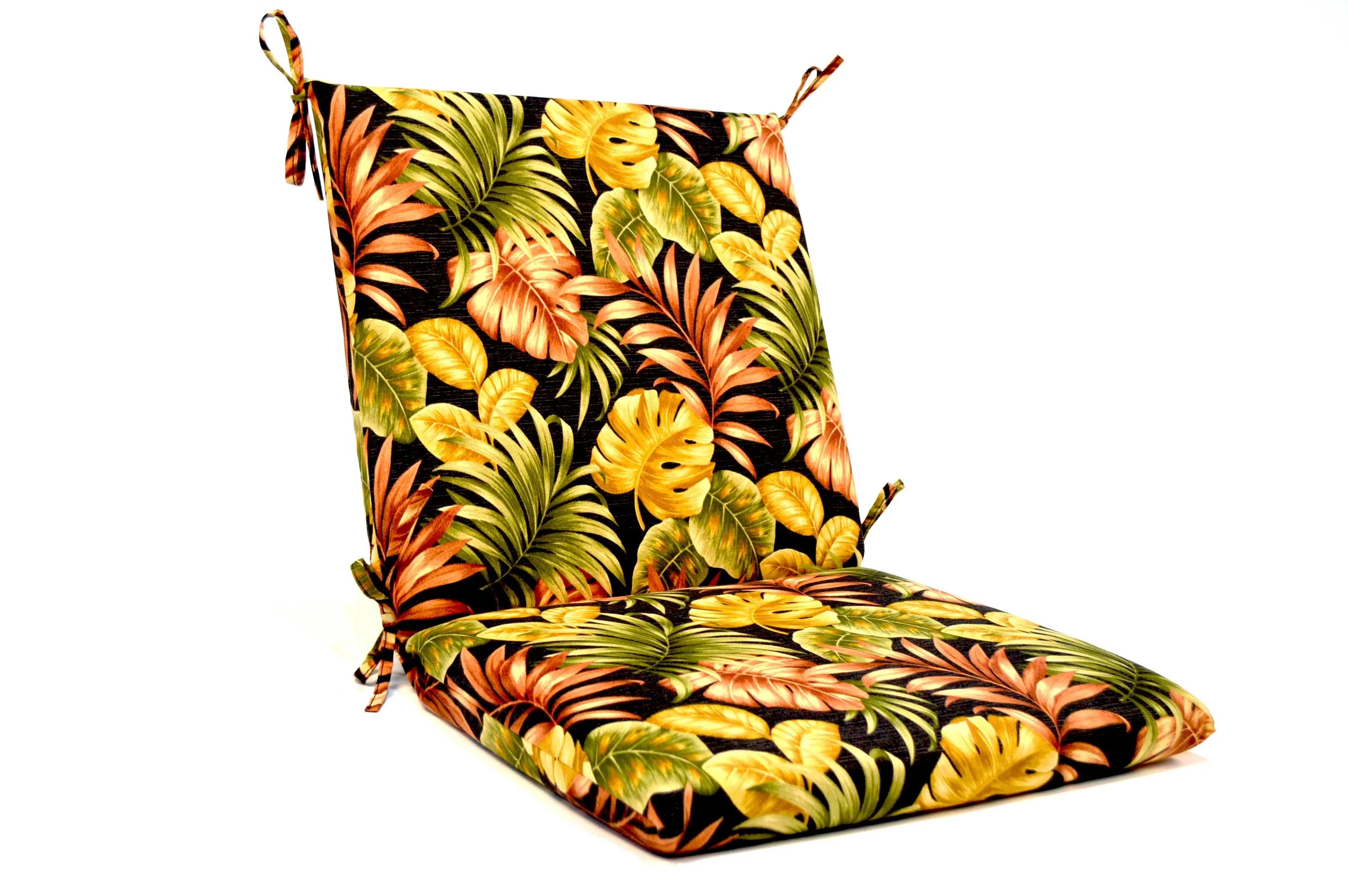 high back lawn chair cushions london design museum tropical floral iron indoor outdoor lounge cushion joss main