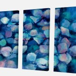 East Urban Home Abstract Blue Flower Petals Painting Multi Piece Image On Canvas Wayfair