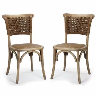 dining chairs with caning gaming chair for pc french cane back wayfair set of 2