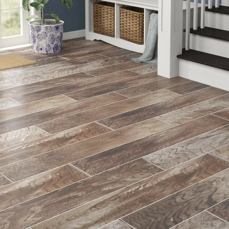shine 8 x 48 porcelain wood look wall floor tile