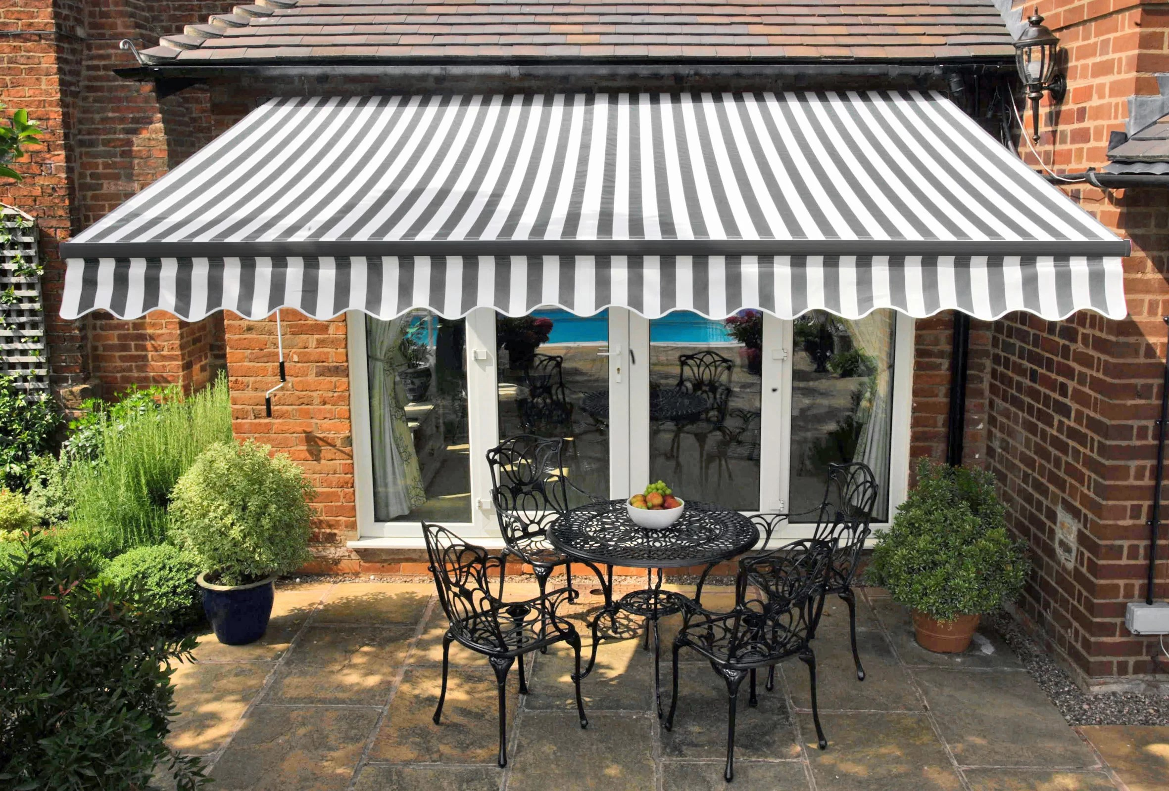 romy w 2 5 x d 2m retractable patio awning