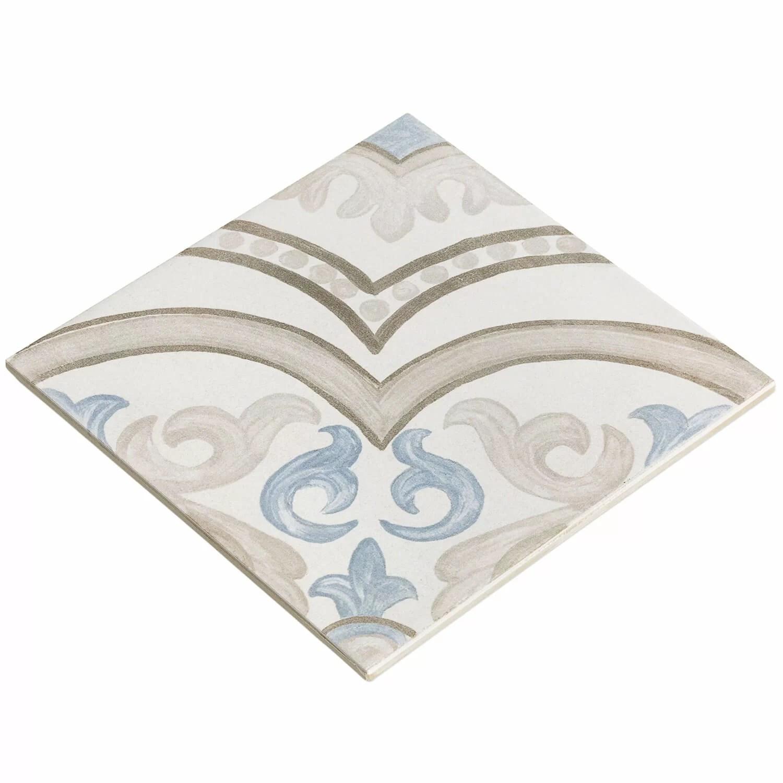 valencia daiza 8 x 8 porcelain field tile in matte gray blue