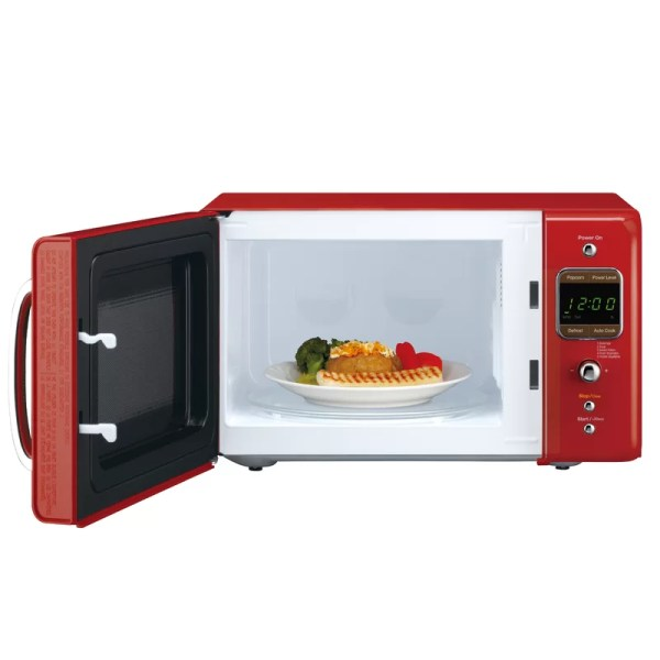 Daewoo Retro 17.6'' 0.7 Cu. Ft. Countertop Microwave &