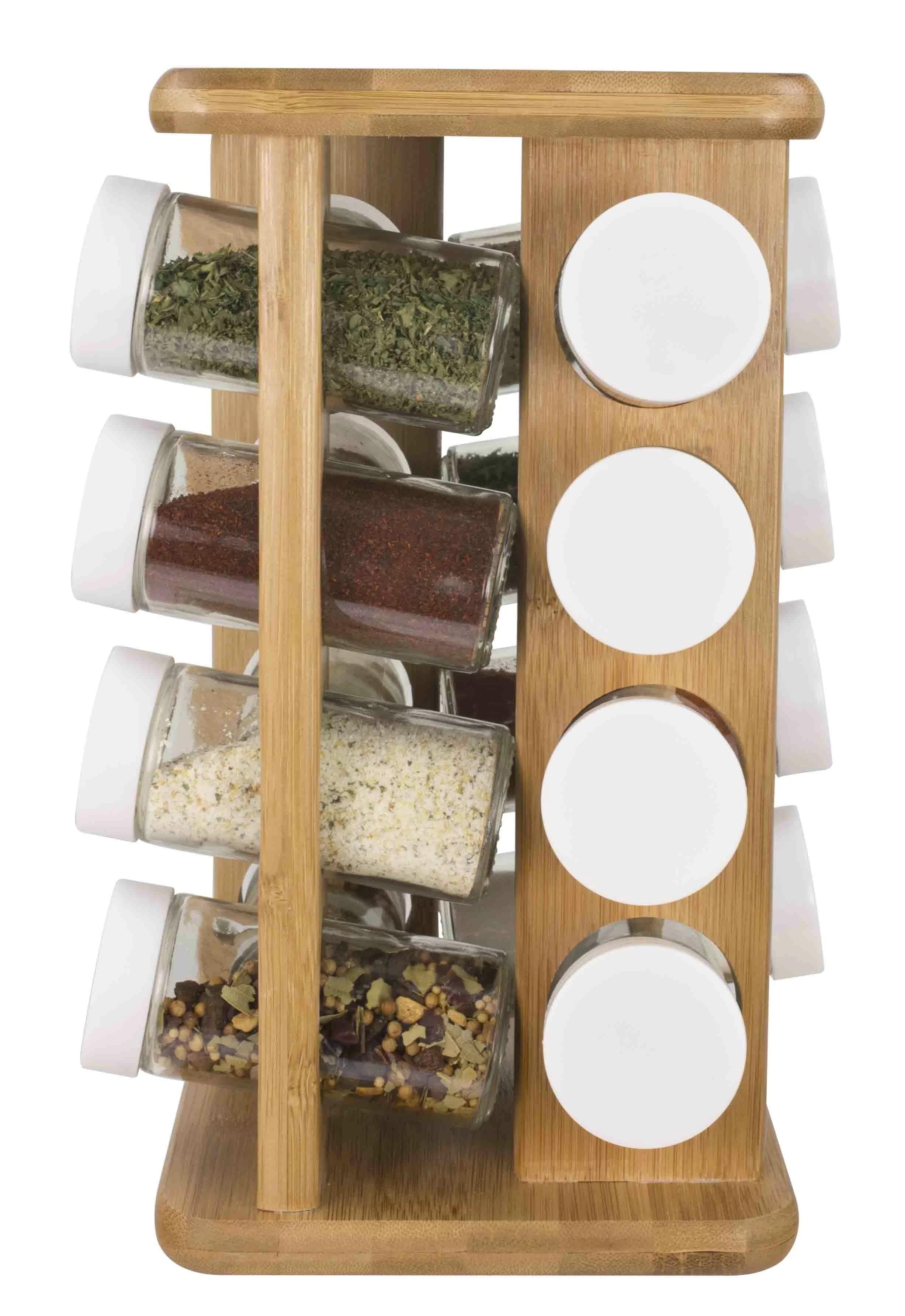 16 spice jar rack set