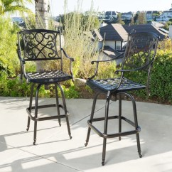 Outdoor Bar Chairs Drive Fly Lite Transport Chair Parts Swivel Patio Stools You Ll Love Wayfair Molino 48 2 Stool Set Of