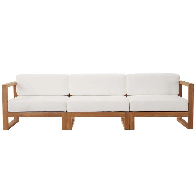 cambridge teak patio sofa with cushions