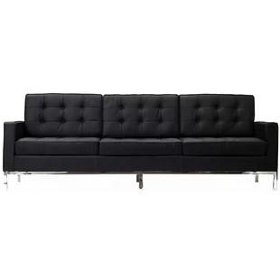 steel frame sofa nova black and white leather corner right hand wayfair ancheta framed upholstered