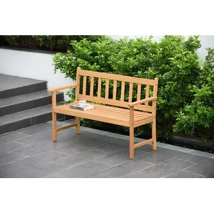 olinda 2 seater wooden garden bench