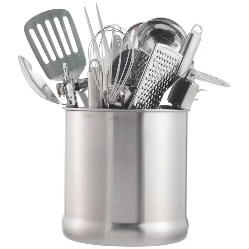 kitchen tool holder can i just replace cabinet doors vonshef 7 stainless steel utensil reviews wayfair