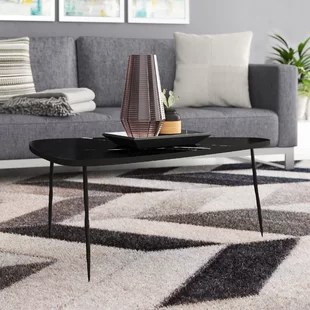 coffee tables for small living rooms navy blue room extra wayfair ca athanas table with marble and iron legs