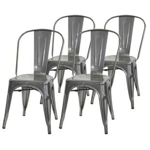 cafe chairs metal wooden folding church wayfair quickview