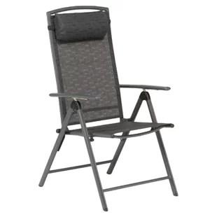 black metal folding garden chairs navy blue dining wayfair co uk valencia reclining chair set of 2