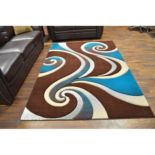 brown turquoise area rug