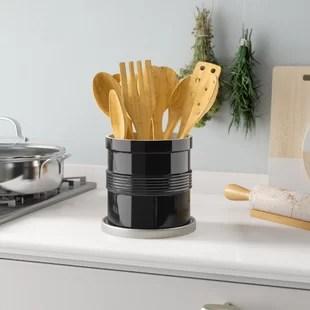 kitchen crock small floor tile ideas find utensil crocks for your wayfair quickview