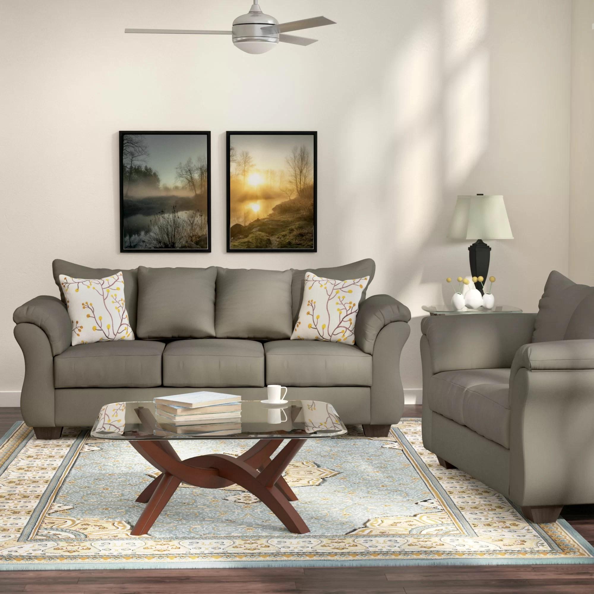 Andover Mills Chisolm 2 Piece Living Room Set  Reviews  Wayfair