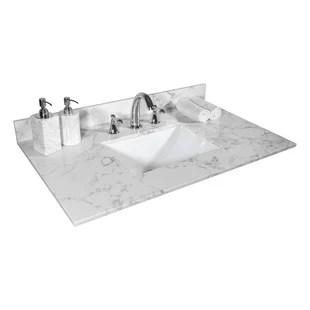 31 single bathroom vanity top in carrara white marble with sink