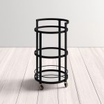 Willem Mirrored Bar Cart Reviews Allmodern