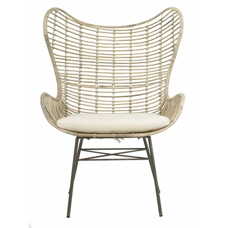 rattan wingback chairs sex swing chair bungalow rose brindley wayfair