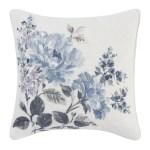 Laura Ashley Chloe Pastel Blue 16 X 16 Decorative Pillow Reviews Wayfair